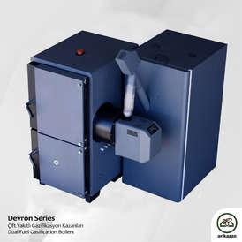 Arikazan Devron Combination log and pellet boiler