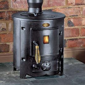 Clarke Barrel Cast Iron Wood Burning Stove