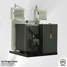 E-Dragon 60 Wood Pellet Warehouse Fan Heating System