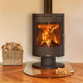 Opus Harmony PR Stove with a pedestal base