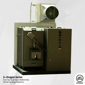 S-Dragon 60 Wood Pellet Warehouse Ducted Heating System