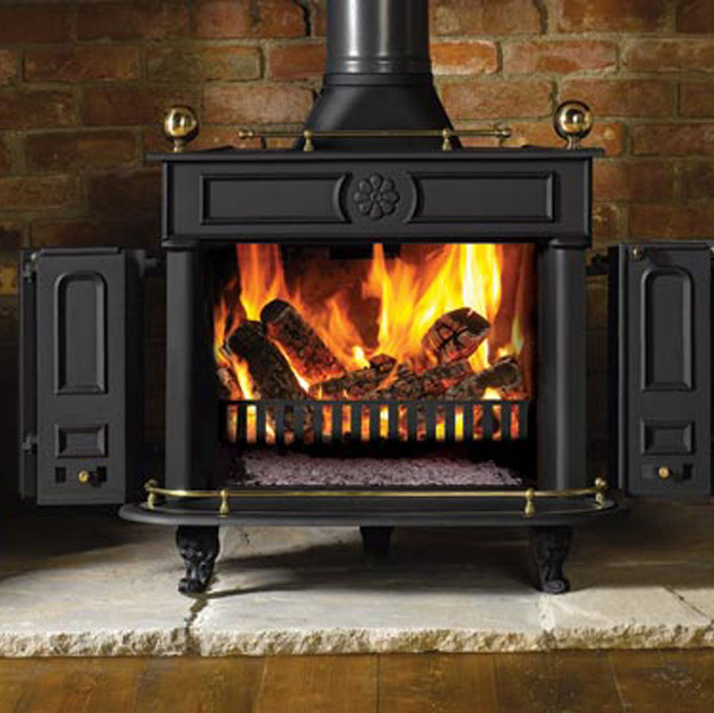 mansfield shown fireplace modern fireplaces through products a with burning regency trim inserts black see wood